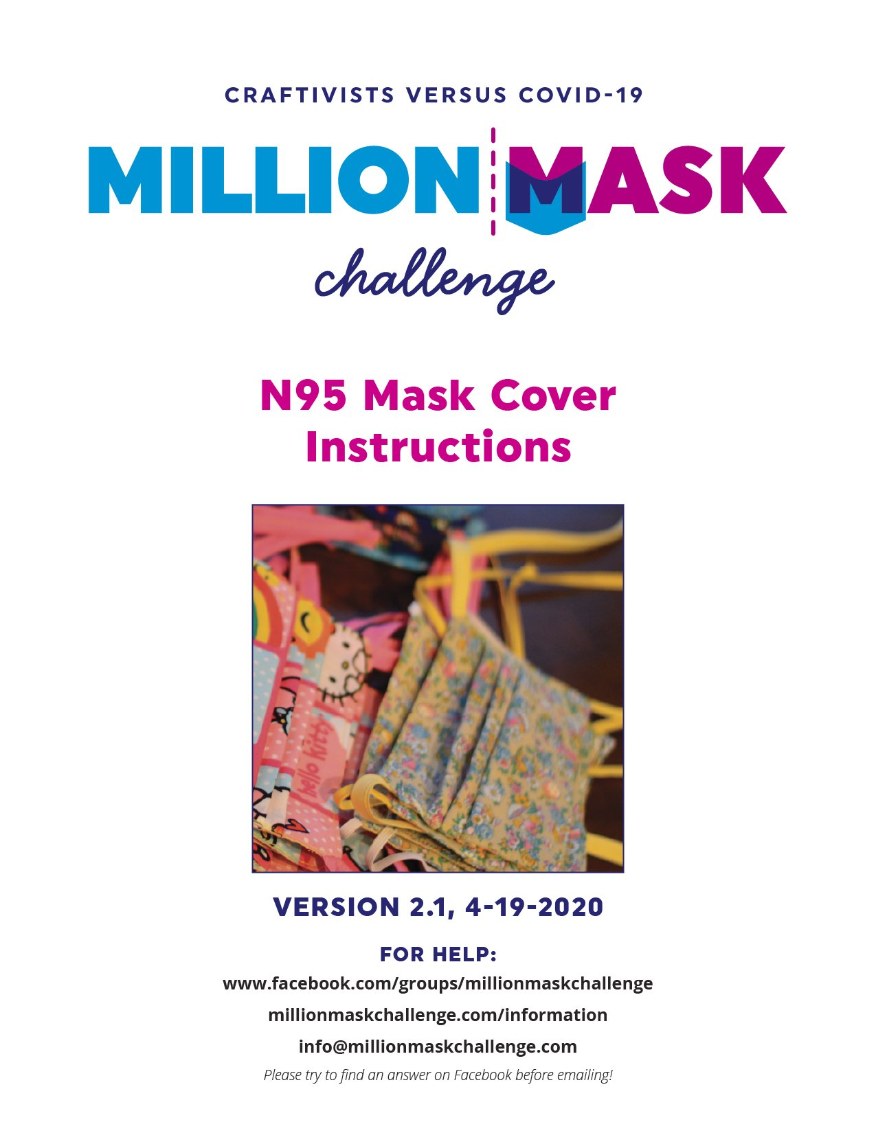 N95 Mask Cover Instructions Version 2.0